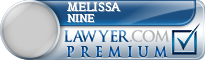 Melissa Nine  Lawyer Badge