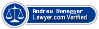 Andrew Honegger  Lawyer Badge