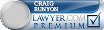 Craig William Runyon  Lawyer Badge