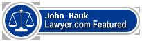 John Nelson Hauk  Lawyer Badge