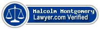 Malcolm Henry Montgomery  Lawyer Badge