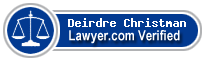 Deirdre Christman  Lawyer Badge