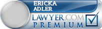 Ericka Adler  Lawyer Badge