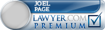 Joel Page  Lawyer Badge