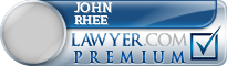 John Rhee  Lawyer Badge