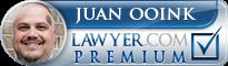 Juan Ooink  Lawyer Badge