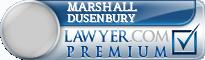 Marshall Dusenbury  Lawyer Badge