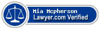 Mia Mcpherson  Lawyer Badge