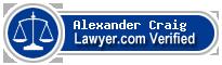 Alexander Ryan Craig  Lawyer Badge