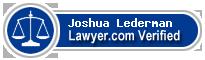 Joshua Michael Lederman  Lawyer Badge