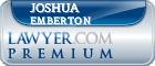 Joshua Michael Emberton  Lawyer Badge