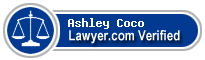 Ashley Courville Coco  Lawyer Badge