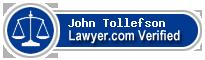 John C Tollefson  Lawyer Badge
