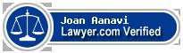 Joan Aanavi  Lawyer Badge