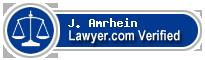 J. Christopher Amrhein  Lawyer Badge