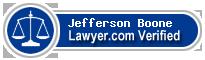 Jefferson W. Boone  Lawyer Badge