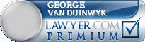 George Paul Van Duinwyk  Lawyer Badge