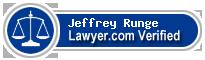 Jeffrey A. Runge  Lawyer Badge