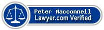 Peter William Macconnell  Lawyer Badge