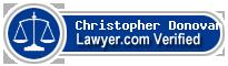 Christopher James Donovan  Lawyer Badge