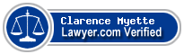 Clarence L. Myette  Lawyer Badge