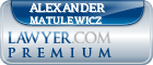 Alexander F. X. Matulewicz  Lawyer Badge