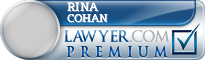 Rina Cohan  Lawyer Badge