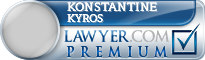 Konstantine William Kyros  Lawyer Badge