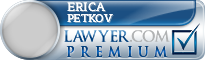 Erica Pearl Petkov  Lawyer Badge