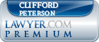 Clifford Joseph Peterson  Lawyer Badge