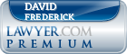 David B. Frederick  Lawyer Badge