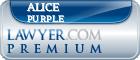 Alice L. Purple  Lawyer Badge