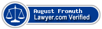 August Bartholomew Fromuth  Lawyer Badge