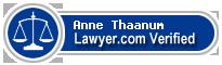 Anne Wyeth S Thaanum  Lawyer Badge