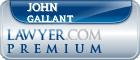John F. Gallant  Lawyer Badge