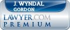 J. Wyndal The Warrior Lawyer! Gordon  Lawyer Badge
