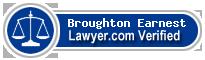 Broughton M Earnest  Lawyer Badge