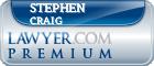 Stephen W. Craig  Lawyer Badge