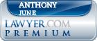 Anthony Oliver June  Lawyer Badge