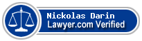 Nickolas Ferdinand Darin  Lawyer Badge