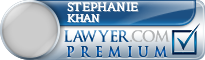Stephanie D. Khan  Lawyer Badge