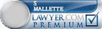S Mallette  Lawyer Badge