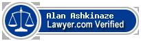 Alan Ashkinaze  Lawyer Badge