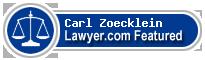 Carl G. Zoecklein  Lawyer Badge