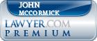 John McCormick  Lawyer Badge