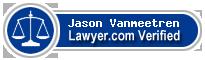 Jason A. Vanmeetren  Lawyer Badge
