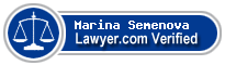 Marina Vladimirovna Semenova  Lawyer Badge