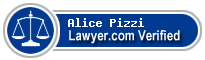 Alice Elizabeth Pizzi  Lawyer Badge