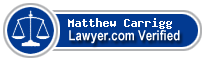 Matthew Vincent Carrigg  Lawyer Badge