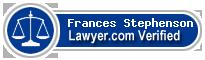 Frances Helen Stephenson  Lawyer Badge